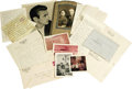 Movie/TV Memorabilia:Photos, Photos and Letters from James Dean's Grandparents. Included are two handwritten letters in pencil from Emma Dean to Josephin...