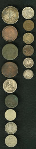 Counterstamps, 15-Piece Lot of Counterstamped Coins.... (Total: 15 tokens)