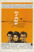 "Movie/TV Memorabilia:Posters, ""Giant"" (Warner Brothers, R-1963). One Sheet (27"" X 41"") and LobbyCard Set of Eight (11"" X 14""). In 1963, Warner Brothers d...(Total: 9 Items)"