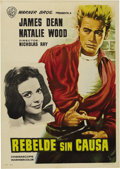 "Movie/TV Memorabilia:Posters, ""Rebel Without a Cause"" (Warner Brothers, R-1964). Spanish OneSheet (27.5"" X 38.5""). James Dean made his definitive mark on..."