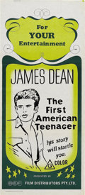 "Movie/TV Memorabilia:Posters, ""James Dean: First American Teenager"" (ZIV International, 1976) and""Giant"" (Warner Brother, R-1970s) Australian Daybill (2..."