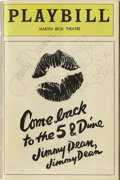 "Movie/TV Memorabilia:Autographs and Signed Items, ""Come Back to the 5 & Dime Jimmy Dean, Jimmy Dean"" SignedPlaybill. From the Broadway play, signed on the cover in pen byca..."