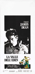 "Movie/TV Memorabilia:Posters, James Dean Italian Locandino Lot (Warner Brothers, R-1980s).Italian Locandinos (three 39"" X 55""). This lot of folded poster...(Total: 3 Items)"