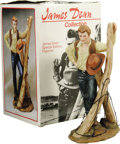 "Movie/TV Memorabilia:Memorabilia, James Dean Porcelain Figurine. Special edition, 7"" porcelainfigurine released in 1985, the 30th anniversary of Dean's death..."