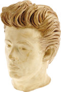 "Movie/TV Memorabilia:Memorabilia, James Dean Bust By Kenneth Kendall. A hauntingly lifelike 12""hydro-stone bust by Dean sculptor Kenneth Kendall. In Excellen..."