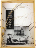 Movie/TV Memorabilia:Original Art, James Dean Assorted Fan Art. Included is a Giantsilk-screened glass panel with barbed wire by Greg Swenson framedto 26...