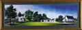 Movie/TV Memorabilia:Original Art, Portrait of James Dean's Boyhood Home by Alan Hauge. Print of the Winslow farm in Fairmount, Indiana, where Dean lived with ...