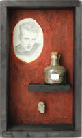 Movie/TV Memorabilia:Memorabilia, Dirt and Rock From James Dean's Grave. A small jar of dirt and arock taken from Dean's grave in his hometown of Fairmount, ...