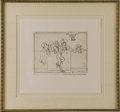 Movie/TV Memorabilia:Original Art, James Dean Bullfighter Drawing Limited Edition Print. A huge fan ofbullfighting, Dean would often take trips to Tijuana and...