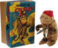 Movie/TV Memorabilia:Toys, Wind-Up Musical Chimp Toy. Vintage wind-up chimp toy with original box identical to the one used in Rebel Without a Cause....