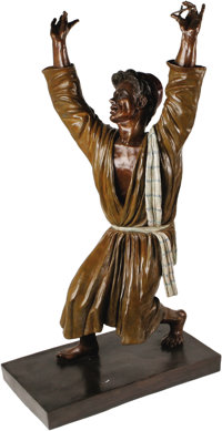 "Bronze ""The Immoralist"" Sculpture by Kenneth Kendall. One of only two 36"" bronze sculptures of Dean as Ba..."
