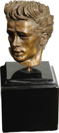 Movie/TV Memorabilia:Memorabilia, James Dean Bust by Kenneth Kendall. A rare and desirable seven-inch bronze bust of the actor by sculptor Kenneth Kendall. A ...
