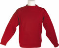 Movie/TV Memorabilia:Costumes, James Dean's Red Sweater. A favorite of Dean's, this heavy-knit redsweater was worn by the screen legend while he was a str...