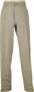 "Movie/TV Memorabilia:Costumes, Pants Worn by James Dean in ""East of Eden."" Pair of light gray pinstriped trousers worn by Dean in his Academy Award-nominat..."