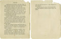 "Movie/TV Memorabilia:Documents, James Dean School Essay. Two-page, typed autobiographical essay byDean titled ""My Case Study."" Very candid at times, it rea..."