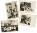 "Movie/TV Memorabilia:Photos, Original Photos of Young James Dean with Classmates. Set of four4.5"" x 3.5"" b&w photos of Dean with his high school classma..."
