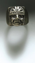 Movie/TV Memorabilia:Costumes, James Dean Mayan Ring. Heavy sterling silver ring with interestingMayan head motif, in Excellent condition with moderate un...