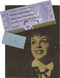"""Movie/TV Memorabilia:Autographs and Signed Items, Ticket from """"A Star is Born"""" and Pier Angeli Signature Cut. James Dean's romance with actress Pier Angeli was one of his few..."""