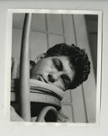 "Movie/TV Memorabilia:Photos, ""Bobby Heller Head on Stool"" Original Photo Taken by James Dean. Anextremely rare original 8"" x 10"" silver gelatin print s..."