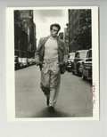 "Movie/TV Memorabilia:Photos, ""James Dean Walking Down 68th St. In New York City"" Signed OriginalPhoto by Roy Schatt. One of the most iconic images of J..."
