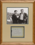 "Movie/TV Memorabilia:Autographs and Signed Items, James Dean ""To Sal"" Autograph and Photo. Sal Mineo enjoyed greatsuccess as a teen idol during the late '50s, shooting to fa..."