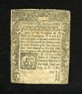 Colonial Notes:Connecticut, Connecticut July 1, 1780 Criss Cross Cancellation 20s About New. A criss cross cancellation is found on this final issue Con...