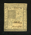 Colonial Notes:Delaware, Delaware January 1, 1776 5s Very Choice New. A near gem example of this more available Delaware issue that has sizeable marg...