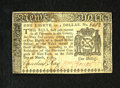 Colonial Notes:New York, New York March 5, 1776 $1/8 Extremely Fine. A crisp and clearfractional denomination note from this popular New York issue ...