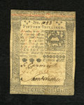 Colonial Notes:Pennsylvania, Pennsylvania October 1, 1773 15s Extremely Fine-About New. Alightly circulated example of this popular columned issue that ...