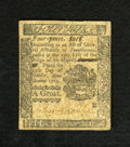 Colonial Notes:Pennsylvania, Pennsylvania October 25, 1775 4d Very Fine-Extremely Fine. Apleasing example of this small change denomination that is well...