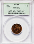 Proof Indian Cents, 1889 1C PR65 Red PCGS....