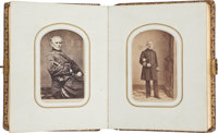 Very Nice Civil War Carte de Visite Album Containing Fifty Civil War Related Images