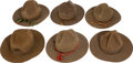 Military & Patriotic:WWI, Group of Six U.S. Army WWI Campaign Hats.... (Total: 6 Items)