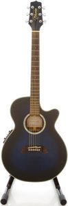 Musical Instruments:Acoustic Guitars, Takamine EG560C Trans Blue Acoustic Electric Guitar, #1420412....