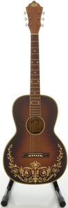 Musical Instruments:Acoustic Guitars, Circa 1940's Oahu Deco Model Walnut Burst Square Neck AcousticGuitar....