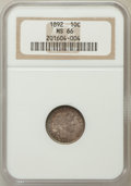 Barber Dimes: , 1892 10C MS66 NGC. NGC Census: (64/20). PCGS Population (63/9).Mintage: 12,121,245. Numismedia Wsl. Price for problem free...