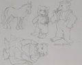 Pulp, Pulp-like, Digests, and Paperback Art, MAURICE BERNARD SENDAK (American, 1928-2012). Preliminarysketches. Pencil on paper. 8.75 x 11.25 in.. Signed lowerrigh...