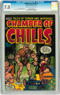 Golden Age (1938-1955):Horror, Chamber of Chills #9 (Harvey, 1952) CGC FN/VF 7.0 Cream tooff-white pages....