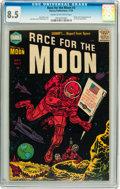 Golden Age (1938-1955):Science Fiction, Race For the Moon #3 (Harvey, 1958) CGC VF+ 8.5 Cream to off-whitepages....