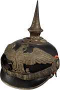 Militaria:Helmets, Mexican Officers' Spiked Helmet (Pickelhaube)....