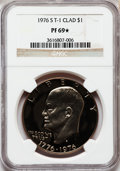 Proof Eisenhower Dollars, 1976-S $1 Clad, Type One PR69 ★ NGC. NGC Census: (9/0). PCGSPopulation (2/0). Mintage: 2,...