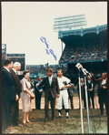 "Baseball Collectibles:Photos, Mickey Mantle ""1965"" Signed Oversized Robert Kennedy Photograph...."