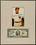 Baseball Collectibles:Others, Mickey Mantle Signed (Twice) Display....