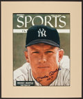 Baseball Collectibles:Photos, Mickey Mantle Signed Oversized Print....