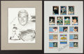 Baseball Collectibles:Photos, Mickey Mantle Signed Displays Lot of 2....