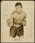 Boxing Collectibles:Autographs, Sugar Ray Robinson Signed Vintage Photograph....