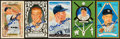 Autographs:Bats, Mickey Mantle Signed Perez Steele Postcards Lot of 5....