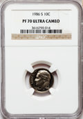 Proof Roosevelt Dimes: , 1986-S 10C PR70 Ultra Cameo NGC. NGC Census: (72). PCGS Population(172). Numismedia Wsl. Price for problem free NGC/PCGS ...