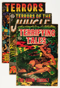 Golden Age (1938-1955):Horror, Terrors of the Jungle/Terrifying Tales Group (Star Publications,1952-56) Condition: Average GD.... (Total: 4 Comic Books)