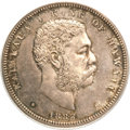 Coins of Hawaii, 1883 50C Hawaii Half Dollar MS64+ PCGS Secure....